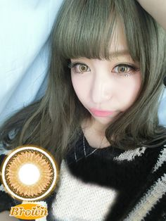New Natural Cosmetic Colored Circle Contact Lens Eagle Eye Brown