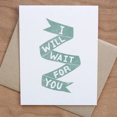 I WILL WAIT FOR YOU / Little City Love