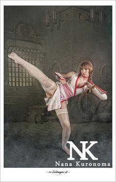 Videogame: Dead Or Alive. Character: Kasumi Cosplayer: Amyyikawa 'aka' Nana Kuronoma. From. Austria. Photo: Lichtmagier . Event: Connichi 2013.