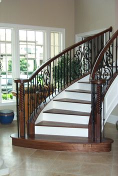 Stair Remodel | Wrought Iron | Staircase Gallery | Houston Iron Gallery | SRG Stairs