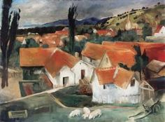 Istvan Szonyi - Roofs in Zebegény Landscapes, Painting, Art, Paisajes, Craft Art, Scenery, Paintings, Kunst, Gcse Art