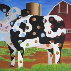 """""""Holy Cow,"""" original figurative painting by artist Stephen Green (USA) available at Saatchi Art #SaatchiArt."""