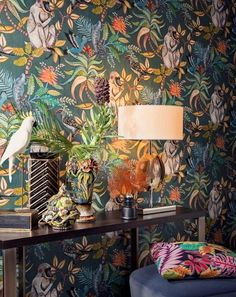Cole and Son SAVUTI wallpaper cole and sons wallpaper monkey.- Cole and Son SAVUTI wallpaper cole and sons wallpaper monkey wallpaper jungle wallpaper lee jofa wallpaper savuti armore collection - Monkey Wallpaper, Tier Wallpaper, Animal Print Wallpaper, Bathroom Wallpaper, Pattern Wallpaper, Wallpaper Jungle, Wallpaper Ideas, Colour In Wallpaper, Large Print Wallpaper