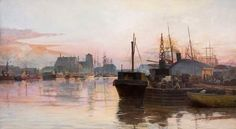 Frederick McCubbin The city's toil 1887 oil on canvas (Frederick McCubbin (25 February 1855 – 20 December 1917) was an Australian painter who was prominent in the Heidelberg School, one of the more important periods in Australia's visual arts history.)