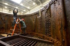 USS Monitor conservators launch ambitious archaeology and deconcretion campaign. With pix & video. http://bit.ly/1O0dRCt -- Mark St. John Erickson