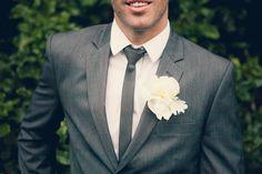 I want the groomsmen to wear dark gray tuxes in my wedding