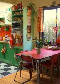 joiasdolar.blogspot.com.br *Em cada post do blog constam os créditos das imagens* #decor #inspiração #inspiration #inspiración #ideas #ideias #cozinha #kitchen #cocina #vintage #retro