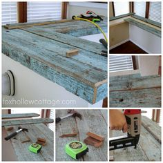 Dry fitting and installing fence board wood countertops 2