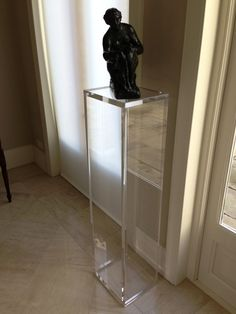 Carewjones.co.uk Ltd - Acrylic pedestal displaying this wonderful bronze sculpture. Made to measure.