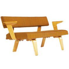 Cor Alons; Bent Plywood Sofa for Den Boer, 1956.