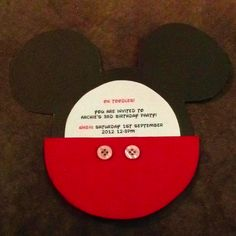 Mickey mouse invites #1