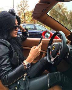 EvoFine Universal Genuine Leather Steering Wheel Cover 15 Inch Stylish & Comfortable Car Steer Wheel Wrap For Trucks & SUVs Sturdy Stitching & Eye-Catching Color Details Enhanced Grip & Comfort Luxury Lifestyle Women, Rich Lifestyle, Wealthy Lifestyle, Maserati, Bugatti, Ferrari, Flipagram Instagram, Small Luxury Cars, Billionaire Lifestyle