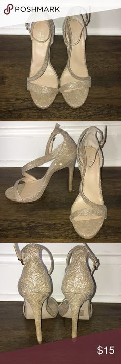 Shimmer Heels Worn once for a photoshoot. Worn at the heel. Carvela Shoes Heels
