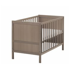 Sundvik Crib, Gray-brown
