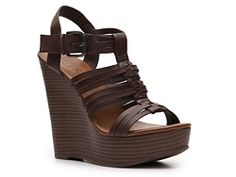 Mix No. 6 Wink Wedge Sandal In tan $40 DSW
