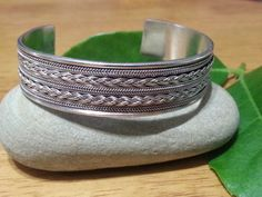 Vintage Sterling Silver Cuff Bangle Bracelet by xsoulsearchingx, $69.99