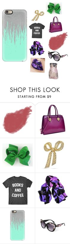 """Never wear this look. Ever!"" by thepinkandpurplerainbow ❤ liked on Polyvore featuring Bobbi Brown Cosmetics, Dasein, Bling Jewelry and Casetify"