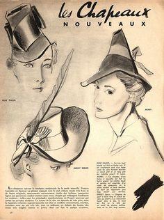 1940's Fashion hats! Chapeaux