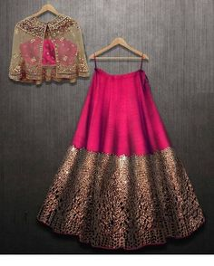Excited to share this item from my shop: VeroniQ Trends- Designer Lehnga Choli in foil mirror work with A koti or jacket in Royal Majenta Color-Engagement,partywear Indian Fashion Dresses, Indian Gowns Dresses, Dress Indian Style, Indian Designer Outfits, Indian Outfits, Designer Dresses, Designer Clothing, Indian Wedding Dresses, Indian Dresses For Women