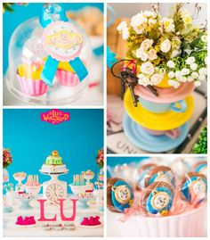 Alice in Wonderland themed birthday party via Kara's Party Ideas KarasPartyIdeas.com Cake, printables, cupcakes, favors, decor, invitation, ...