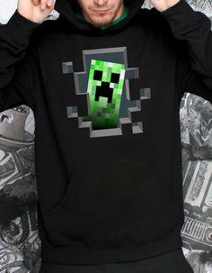 J!NX : Minecraft Creeper Inside Hoodie - Clothing Inspired by Video Games & Geek Culture