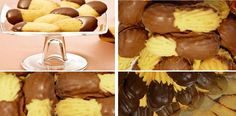 Después de probar estas galletas Lenguas de Gato, ya no volveremos a comprar a la panadería. ¡La familia entera le gusta mucho! | Receitas Soberanas Zucchini Pancakes, Home Baking, Caramel Apples, Deli, Stuffed Mushrooms, Muffin, Cupcakes, Lunch, Cookies