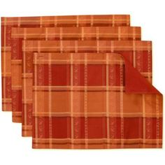 Better Homes and Gardens Reversible Quilted Placemats, Set of 4, Red