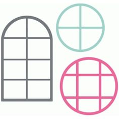 Silhouette Design Store - View Design #63803: set of 3 arched windows