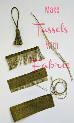 Use fabric to make tassels that match your projects. Get the exact matching or c… Use fabric to make tassels that match your projects. Get the exact matching or contrasting color tassels you need for your sewing projects. Diy Sewing Projects, Sewing Projects For Beginners, Sewing Hacks, Sewing Crafts, Sewing Tips, Sewing Tutorials, Sewing Patterns Free, Free Sewing, Diy Tassel