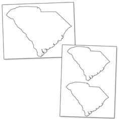 Printable Shape of South Carolina from PrintableTreats.com