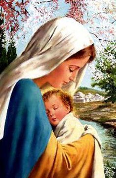 Blessed Mother and Holy Child <>< Loving, faithful, Mother, example to all mothers.
