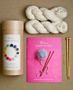 learn to knit kit (purl soho) $62