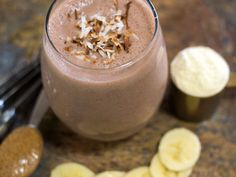 Silk Chocolate Banana Coconut Protein Smoothie