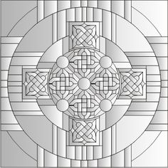 Celtic mandala cross pattern - Click Image to Close