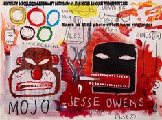 JEAN MICHEL BASQUIAT- SHOWING INJURIES ON RINGFINGER SAME AS 1985 PHOTO AND FINGERPRINT CARD