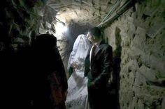 wedding in a Gaza tunnel