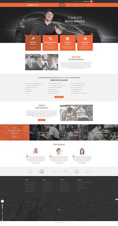 Simple Web Design Information You Will Likely Benefit From Simple Web Design, Web Ui Design, Car Repair Service, Auto Service, Website Design Inspiration, Web Layout, Layout Design, Design Transport, Car Websites