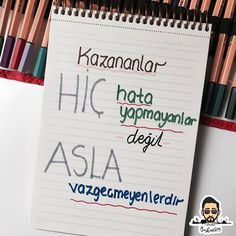 Hata yapın ama asla vazgeçmeyin . . #yks #yks2018 #2018tayfa #2019tayfa Study Hard, Motivational Words, School Hacks, Study Motivation, Love Life, Beautiful Words, Cool Words, Psychology, Bullet Journal
