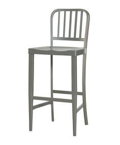 grey metal bar stools