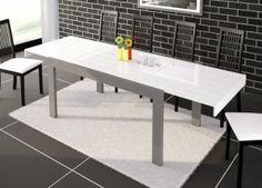 Nowoczesny stół, rozkładany, wysoki połysk, grafitowy, czarny, Hubertus, polski produkt, Imperia