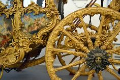 Nymphenburg's carriage and sleigh museum - Louis the XIV style coach - OVER the TOP