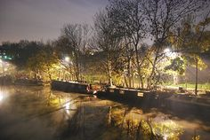Mist on Canal, Lee Navigation, Clapton