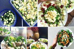 Salades zijn de ideale maaltijd wanneer je meer groentes binnen wilt krijgen. Hier delen we 5 x een heerlijk maaltijdsalade recept met jullie + uitleg. Cobb Salad, Salad Recipes, Main Dishes, Om, Salads, Main Course Dishes, Entrees, Salad, Lettuce