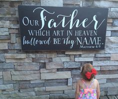 24x48 our father which art in heaven by SaltedWordsCompany on Etsy