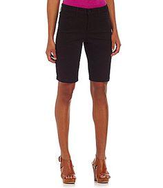 NYDJ Petites Helen Colored Denim Bermuda Shorts #Dillards