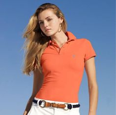 polo ralph lauren outlet online Women\u0027s Classic-Fit Short Sleeve Polo Shirt  Orange http: