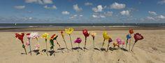 papieren bloemen crepepapier op het strand - Google zoeken