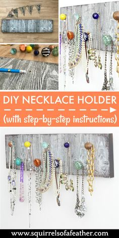 037ab9a551bd8 Love this idea for a DIY necklace holder and it seems so simple to make!
