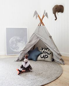 Numero74 Silver Grey Teepee looks great in this room!