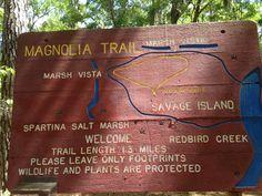Magnolia trail sign